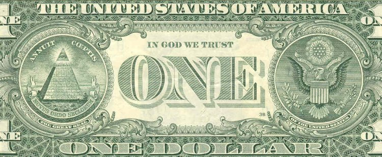 Image result for back of dollar bill